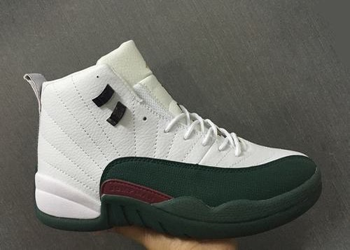 Air Jordan 12 Retro White Dark Green